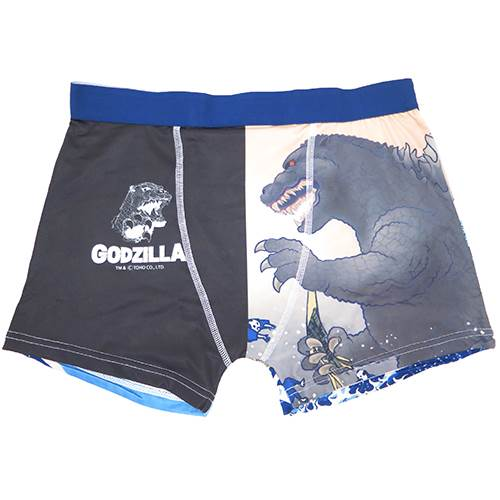 Godzilla men's underwear men's Boxer shorts Fugaku 36 Deluxe Monster-figure forecart Ukiyo-e series men's Innerwear anime store cinema collection point for all 10 x 10 and one morning until 10 a.m.
