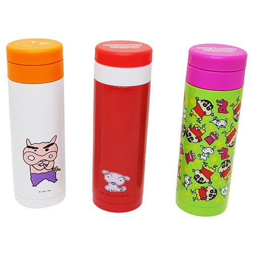 Crayon Shin-Chan's water bottle stainless steel bottle chocobi Nakayoshi comic Shin's planet Mag bottle 350 ml anime manga cinema collection all points 10 times