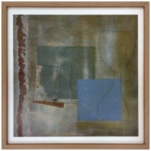Ben Nicholson インテリア アート スカンジナビア ART June 1961(green goblet and blue square) 美工社 63×63cm 壁掛け 額付き グッズ 通販 【取寄品】 【送料無料】シネマコレクション