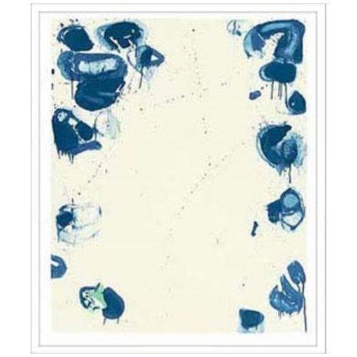 Sam Francis インテリア アート デザイナーズアート Blue Ballsiv 1960 美工社 65×96cm 壁掛け 額付き抽象画通販 【取寄品】 【送料無料】シネマコレクション