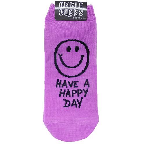 超激安 HAVE A HAPPY DAY 男女兼用靴下 アンクルソックス パステルパープル オクタニコーポレーション 超定番 プチプラ レディースグッズ 靴下 メール便可 メンズ 男女兼用 23-26cm
