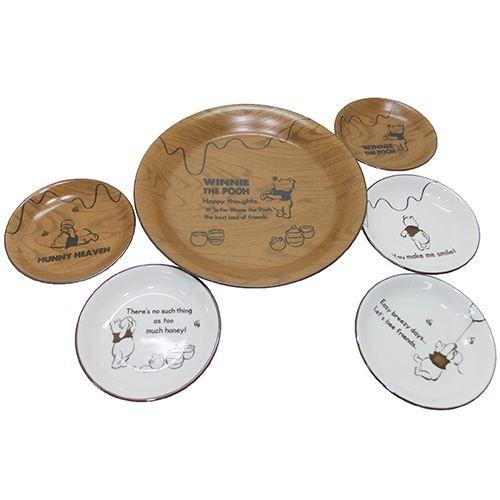 くまの プーさん 食器ギフトセット パーティープレートセット 6枚組 スローカフェ ディズニー 三郷陶器 26cm大皿x1 シネマコレクション キャラクター ギフト グッズ 13cm小皿x5 キャ 気質アップ 雑貨 ギフト雑貨 新作送料無料