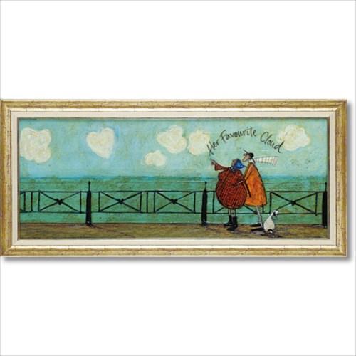 アートポスター 額付き アートフレーム 彼女の好きなハート雲 サム トフト 絵画 ギフト インテリア 雑貨 取寄品 シネマコレクション
