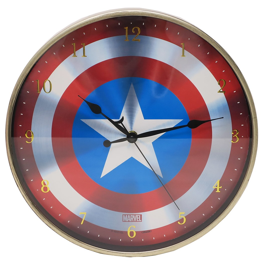 To Captain America wall hangings clock index wall clock Ma Bell Tees  factory 30cm in diameter gift miscellaneous goods fancy goods mail order  shopping