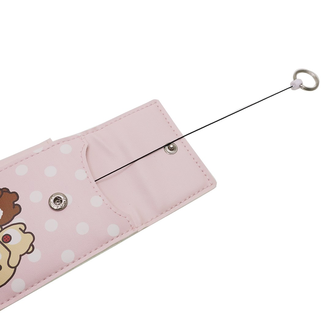 有rirakkumariru式钥匙包小学生用的双肩背的书包装设皮带的钥匙覆盖物粉红SAN-X阴谋曼蒂可爱的上幼儿园上学用品新奇商品邮购电影收集