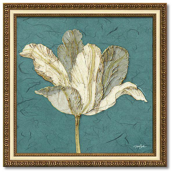 ダイアン スティムソン フラワー アート Art Frames チューリップウィズターコイズ 花 額付きポスター インテリア グッズ 通販 取寄品 シネマコレクション