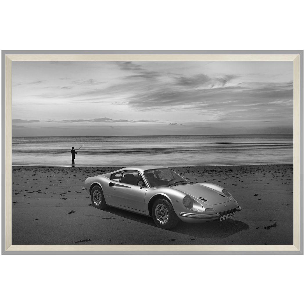 デザイナーズアート 写真 アート B&W PHOTOGRAPHY Dino 206/246 ディーノ 美工社 90×54×5cm モノクロ クラシックカー 白黒 額付きインテリア雑貨通販 【取寄品】 【送料無料】シネマコレクション