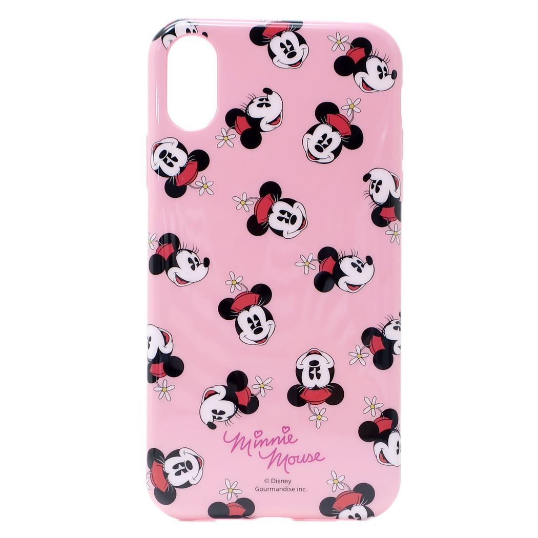 best sneakers 1926c c2eaa Minnie Mouse iPhone XR case eyephone XR ソフトカバーパターンディズニーグルマンディーズ 6.1 inches  model iPhone ten are jacket ...