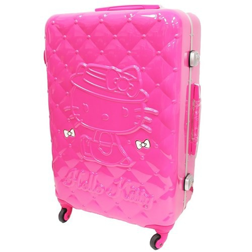 3132d08b7 ... To Hello Kitty suitcase 26 inches carry case quilting pattern  サンリオアートウエルド 66 liters overseas ...