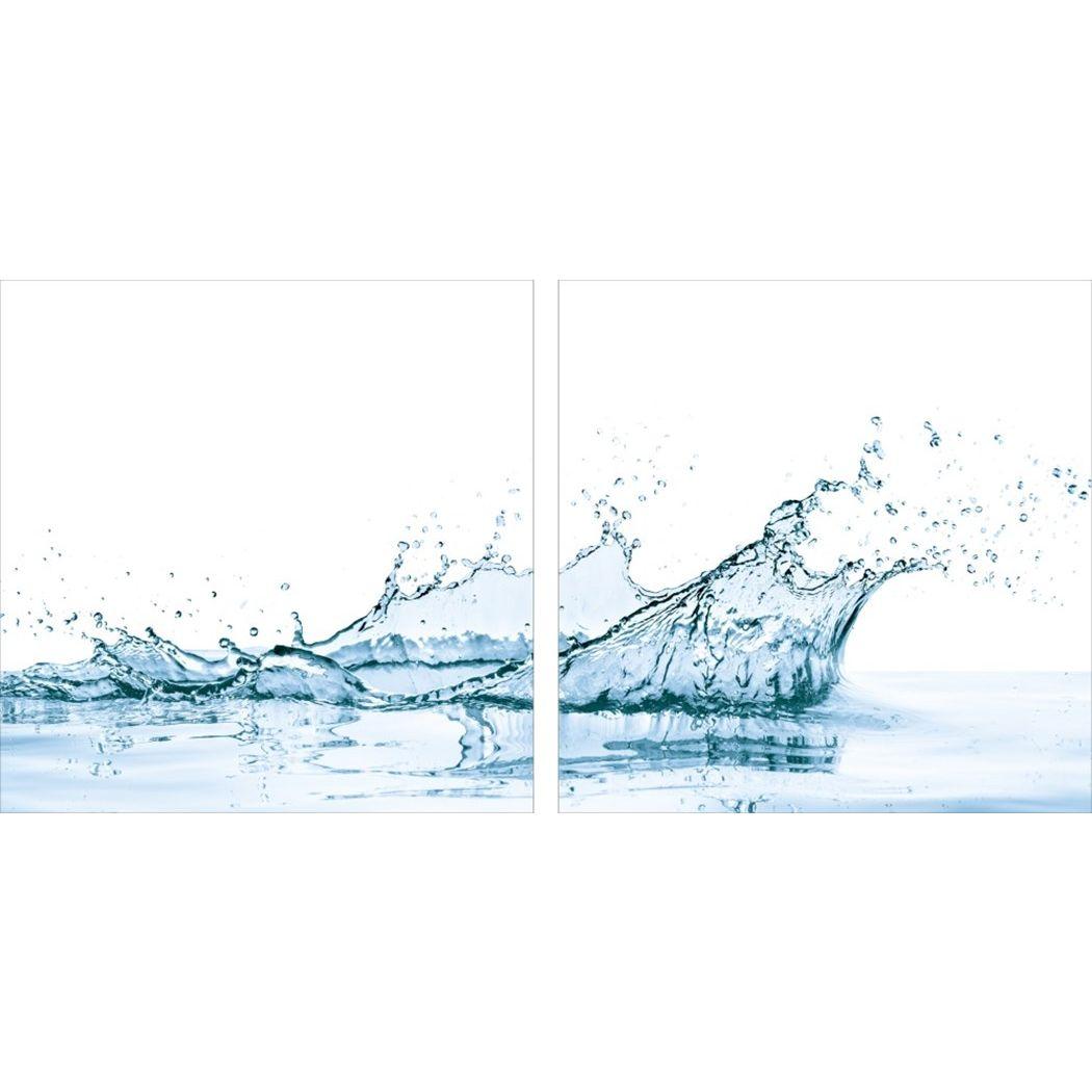 アートパネル モダン アート Art Panel water spiash with reflection isolated(2枚セット) 美工社 70×70×4cm フレームレス ギフト 装飾インテリア通販 【取寄品】 【送料無料】シネマコレクション【全品ポイント10倍】【ママ割 エントリー5倍】 11/26まで