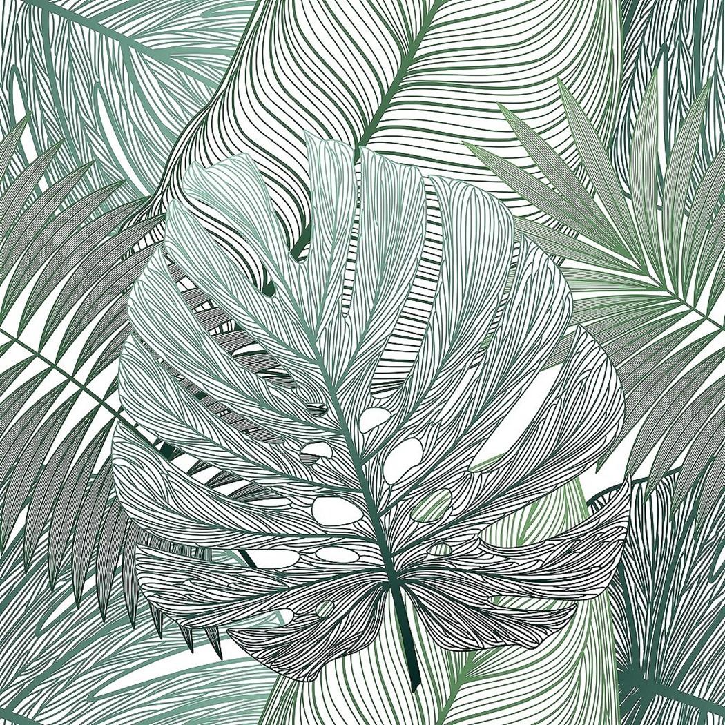 アートパネル モダン アート Art Panel Seamless pattern tropical leaf paim 美工社 フレームレス ギフト 装飾インテリア通販 取寄品 シネマコレクション