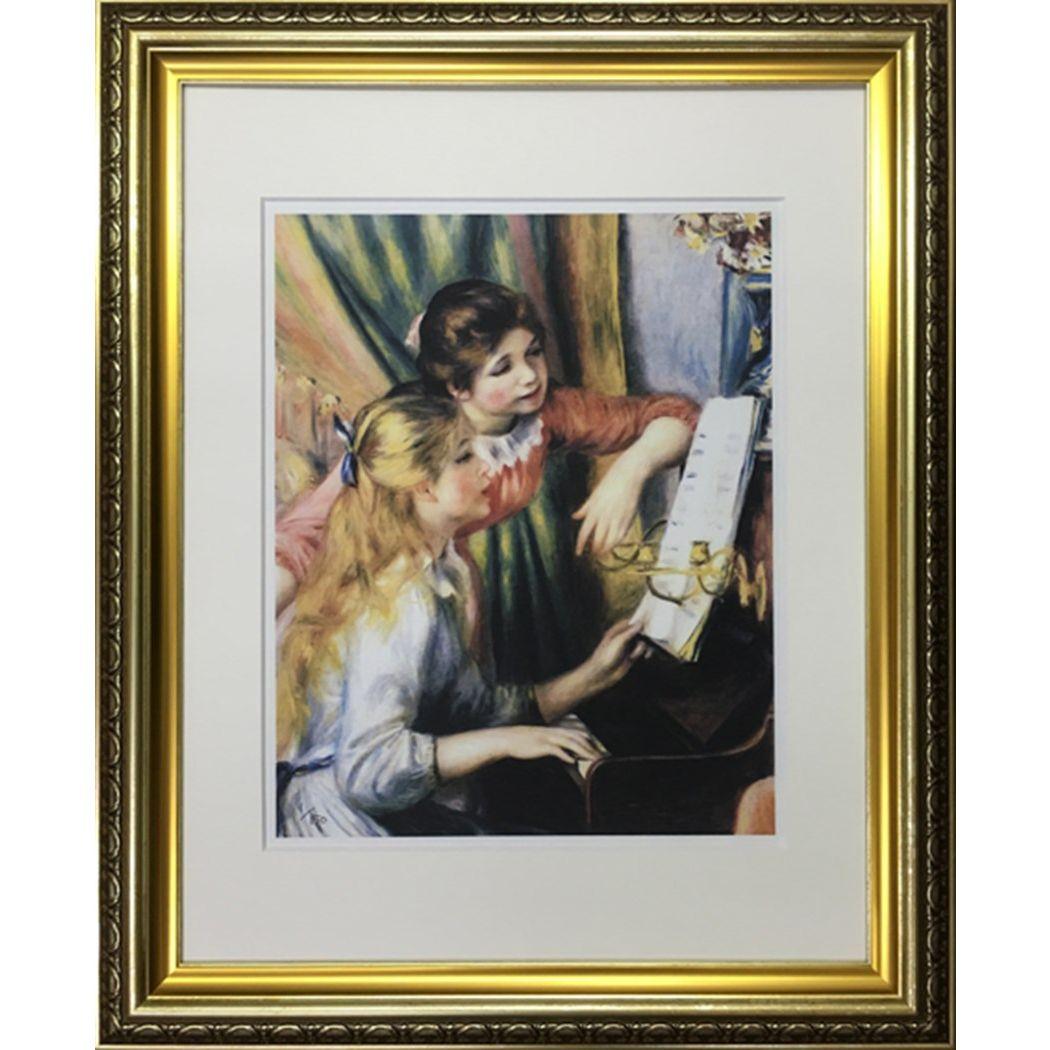 ピエール=オーギュスト ルノワール 名画 Famous Artist Seriese ピアノに寄る娘たち 美工社 額装品 ギフト 装飾インテリア通販 取寄品 シネマコレクション