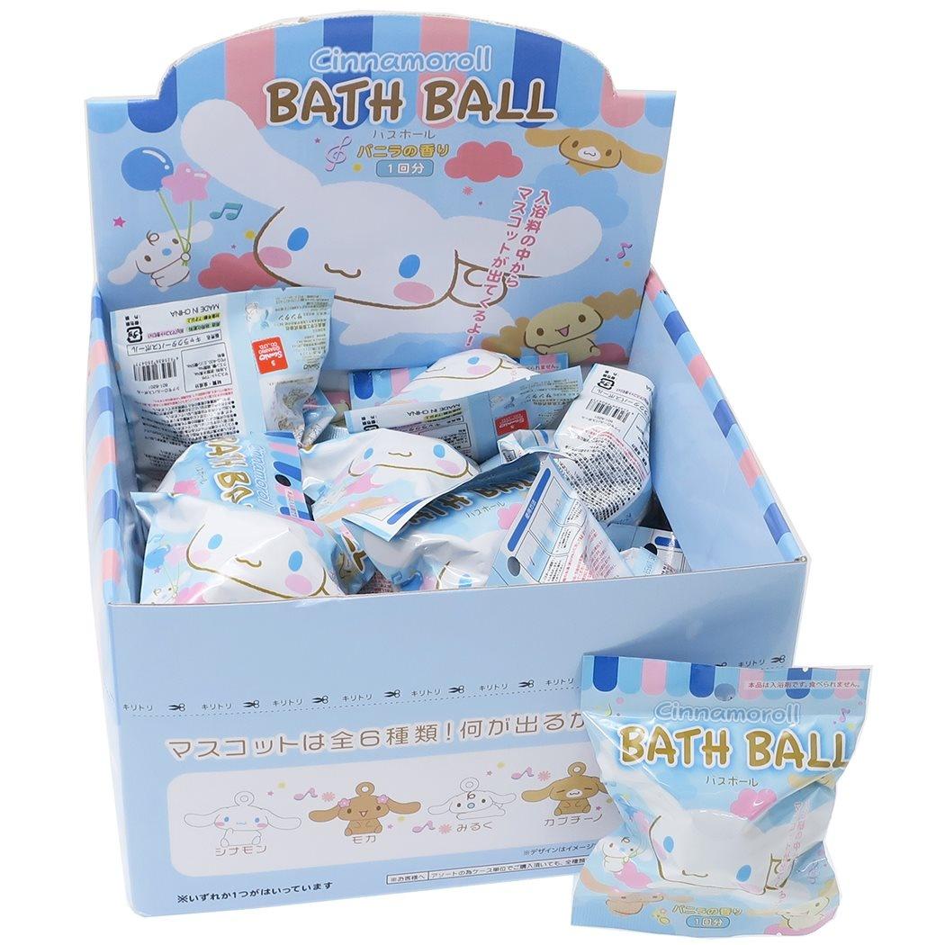 シナモロール バスボール 24個入BOX 入浴剤 セット マスコットが飛び出る サンリオ バニラの香り おもしろ 子供とお風呂 サンタンまとめ買いグッズ シネマコレクション