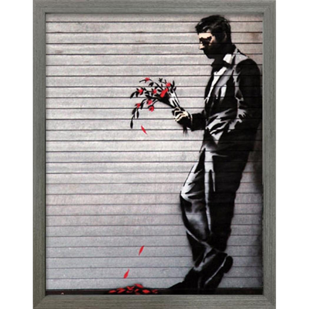 バンクシー アートフレーム Banksy Wither 美工社 IBA-61734 30.5×38×3.2cm 額付きインテリア通販 【取寄品】 【送料無料】シネマコレクション【全品ポイント10倍】【ママ割 登録 エントリー 5倍】12/26まで