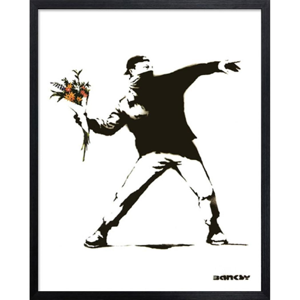 バンクシー アートフレーム Banksy olotov 美工社 IBA-61735 43×53×3.2cm 額付きインテリア通販 【取寄品】 【送料無料】シネマコレクション【全品ポイント10倍】【ママ割 エントリー5倍】 11/26まで
