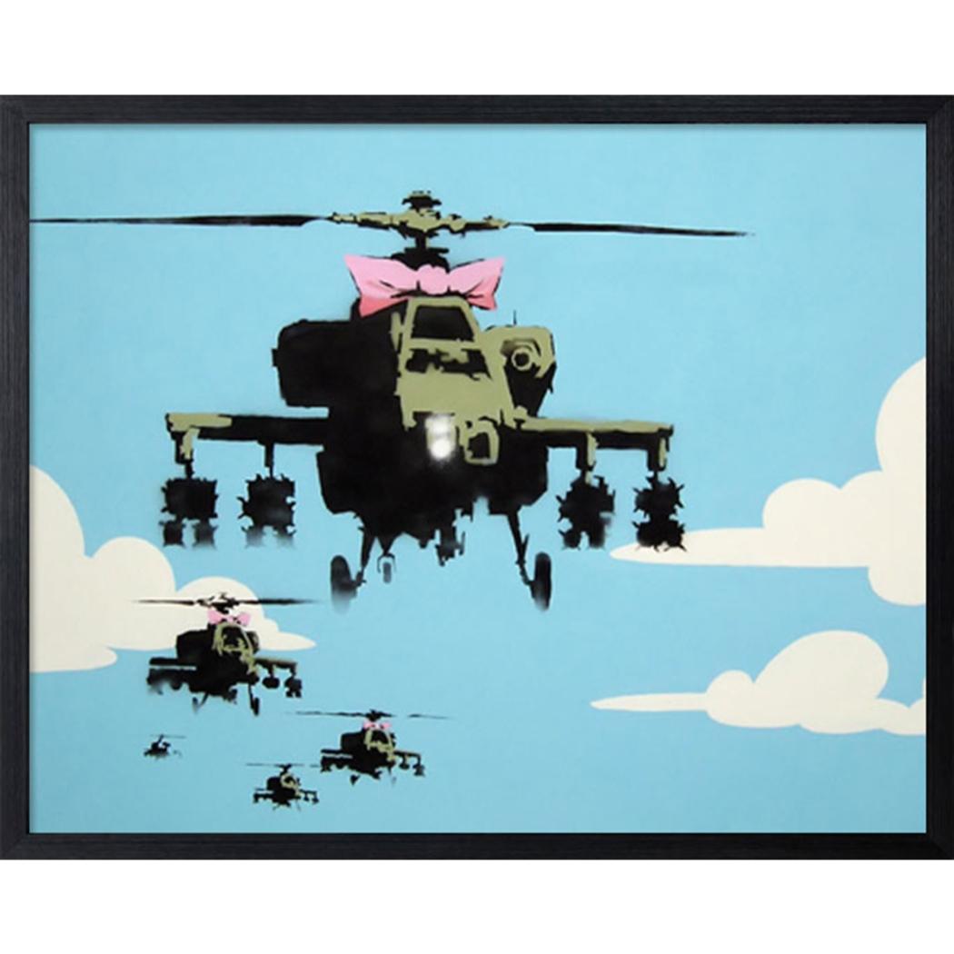 バンクシー アートフレーム Banksy Helicopters 美工社 IBA-61737 53×43×3.2cm 額付きインテリア通販 【取寄品】 【送料無料】シネマコレクション【全品ポイント10倍】【ママ割 エントリー5倍】 11/26まで