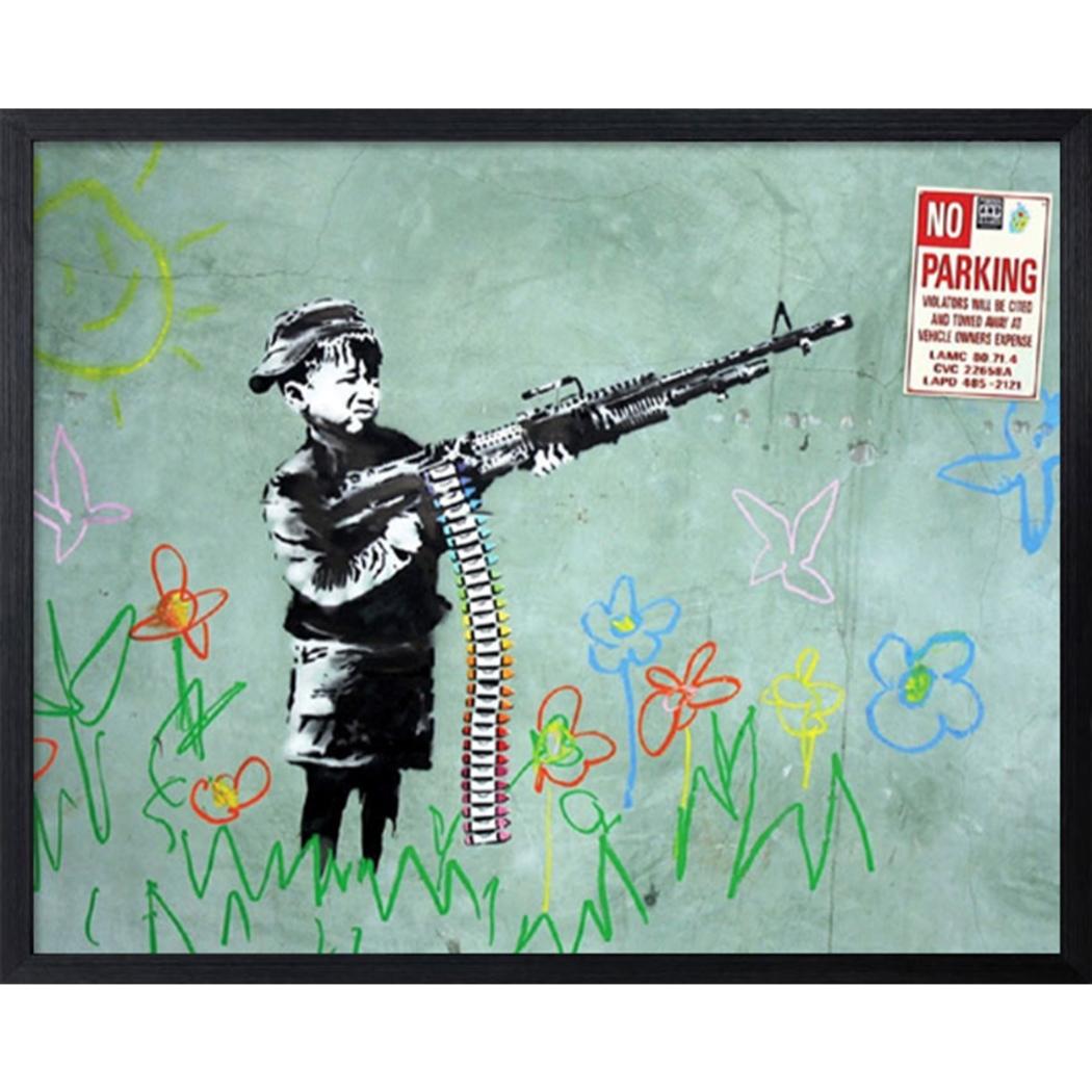 バンクシー アートフレーム Banksy No Parking 美工社 IBA-61738 額付きインテリア通販 取寄品 シネマコレクション