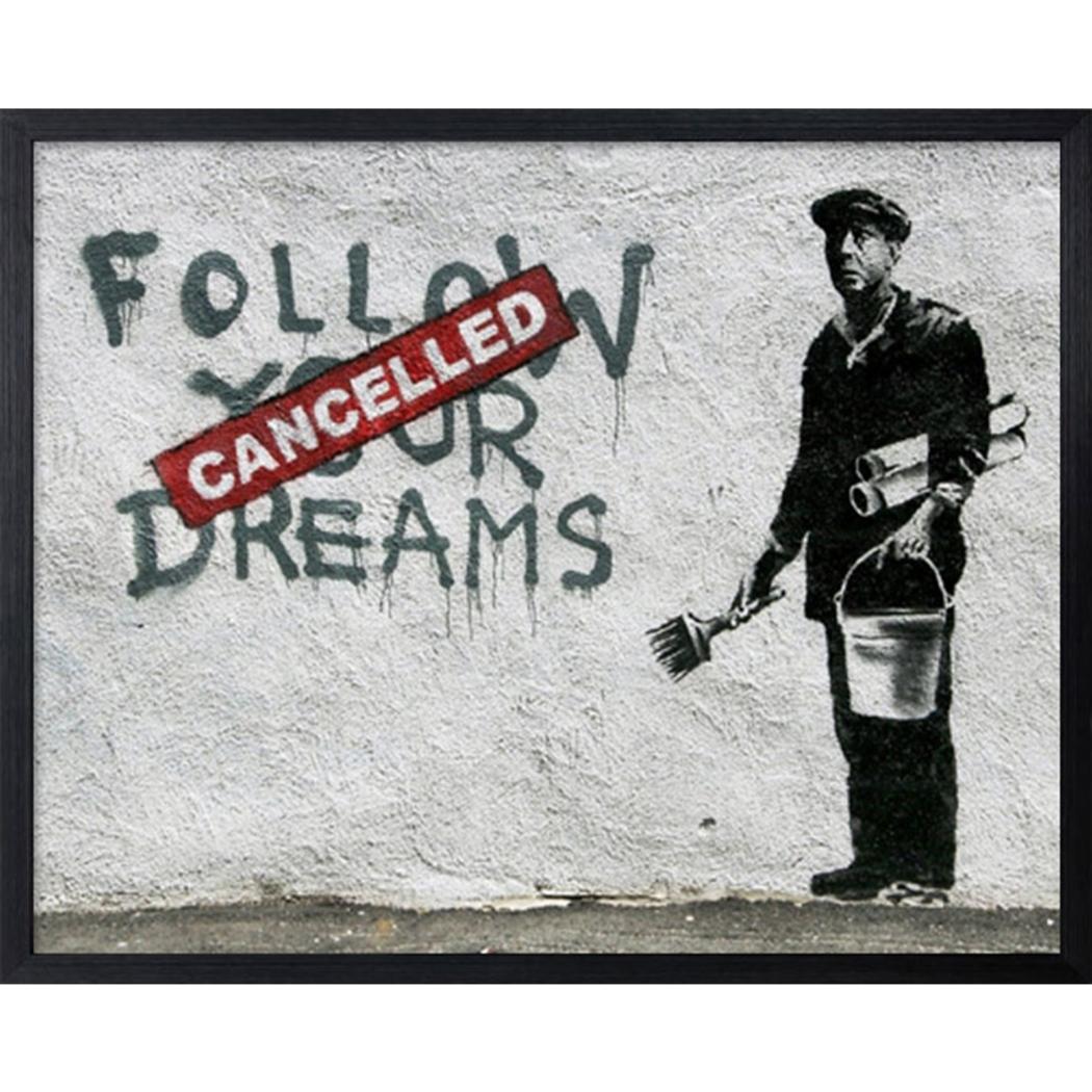 バンクシー アートフレーム Banksy Follow Your Dreams 美工社 IBA-61739 53×43×3.2cm 額付きインテリア通販 【取寄品】 【送料無料】シネマコレクション【全品ポイント10倍】【ママ割 エントリー5倍】 11/26まで