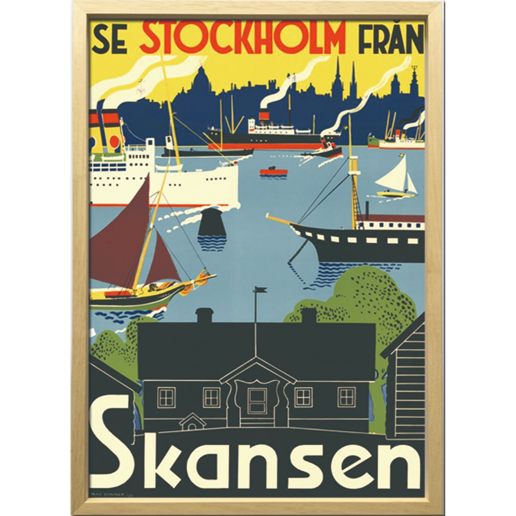 Scandinavian Art アートフレーム スカンセン 1955年 ZCS-52668 美工社 52.5×72.5×3cm 額付き 北欧インテリア通販 【取寄品】 【送料無料】シネマコレクション【全品ポイント10倍】【ママ割 エントリー5倍】 11/26まで
