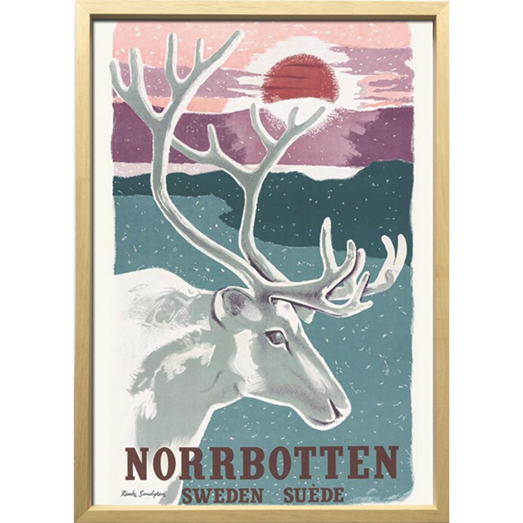 Scandinavian Art アートフレーム トナカイとノルボッテン 1952年 ZCS-52674 美工社 額付き 北欧インテリア通販 取寄品 シネマコレクション