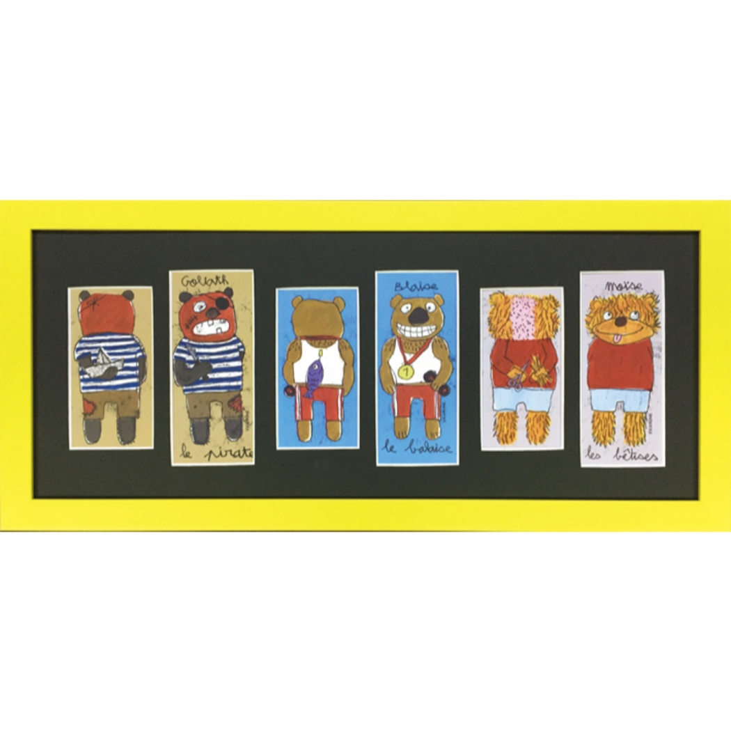 100DRINE フレンチ アート サンドリンヌ ファーブル ZSF-52467 美工社 ギフト 額付きインテリア通販 取寄品 シネマコレクション