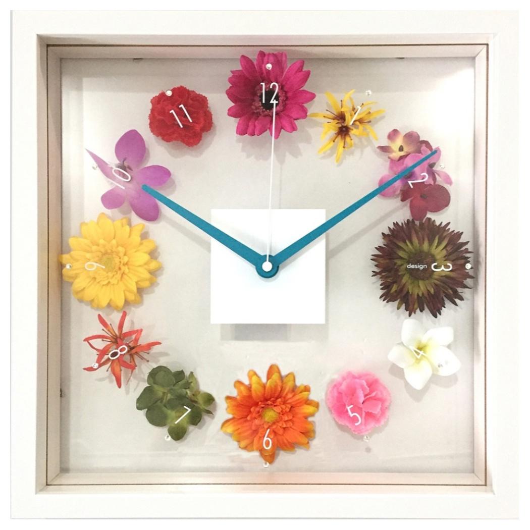 デザインクロック 掛け時計 Design Clock Hana tokei 美工社 CDC-51964 32×32×5.2cm 造花 ギフトインテリア通販 【取寄品】 【送料無料】シネマコレクション【全品ポイント10倍】【ママ割 エントリー5倍】 11/26まで