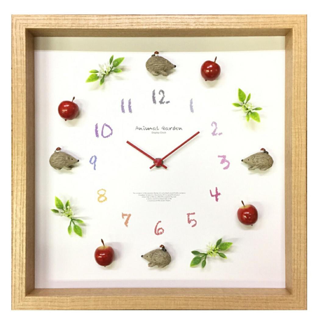 ディスプレイクロック 掛け時計 Display Clock Hedgehog-3 美工社 CDC-52837 32×32×5.5cm ギフト 可愛いインテリア通販 【取寄品】 【送料無料】シネマコレクション【全品ポイント10倍】【ママ割 登録 エントリー 5倍】12/26まで