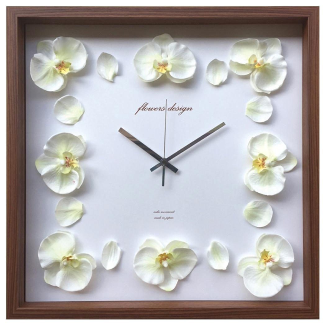 オーキッドクロック 掛け時計 Orchid Clock イエロー 美工社 COC-52453 42.5×42.5×5.5cm 造花 ギフトインテリア通販 【取寄品】 【送料無料】シネマコレクション【全品ポイント10倍】【ママ割 エントリー5倍】 11/26まで