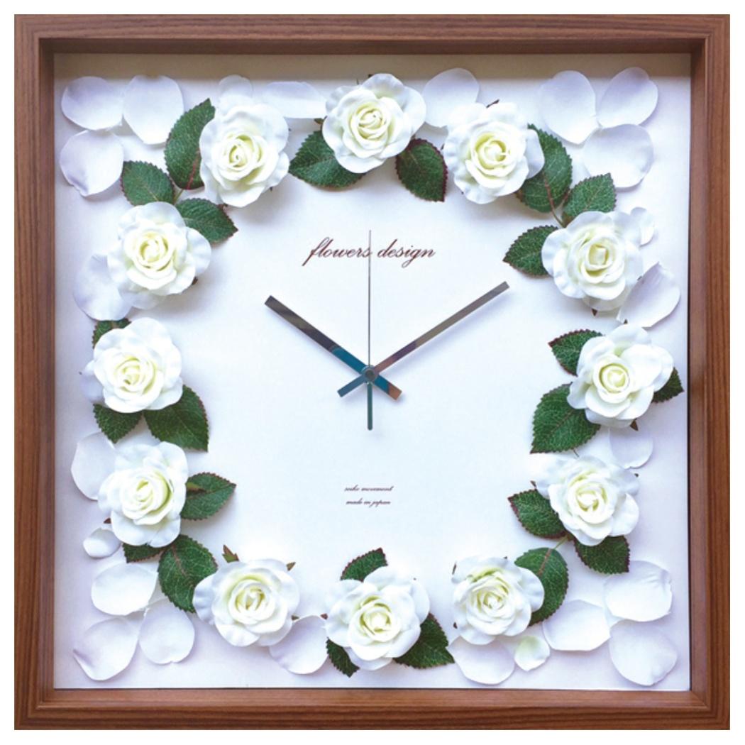 ローズクロック 掛け時計 Rose Clock クリーム 美工社 CRC-52456 42.5×42.5×5.5cm 造花 ギフトインテリア通販 【取寄品】 【送料無料】シネマコレクション【全品ポイント10倍】【ママ割 エントリー5倍】 11/26まで