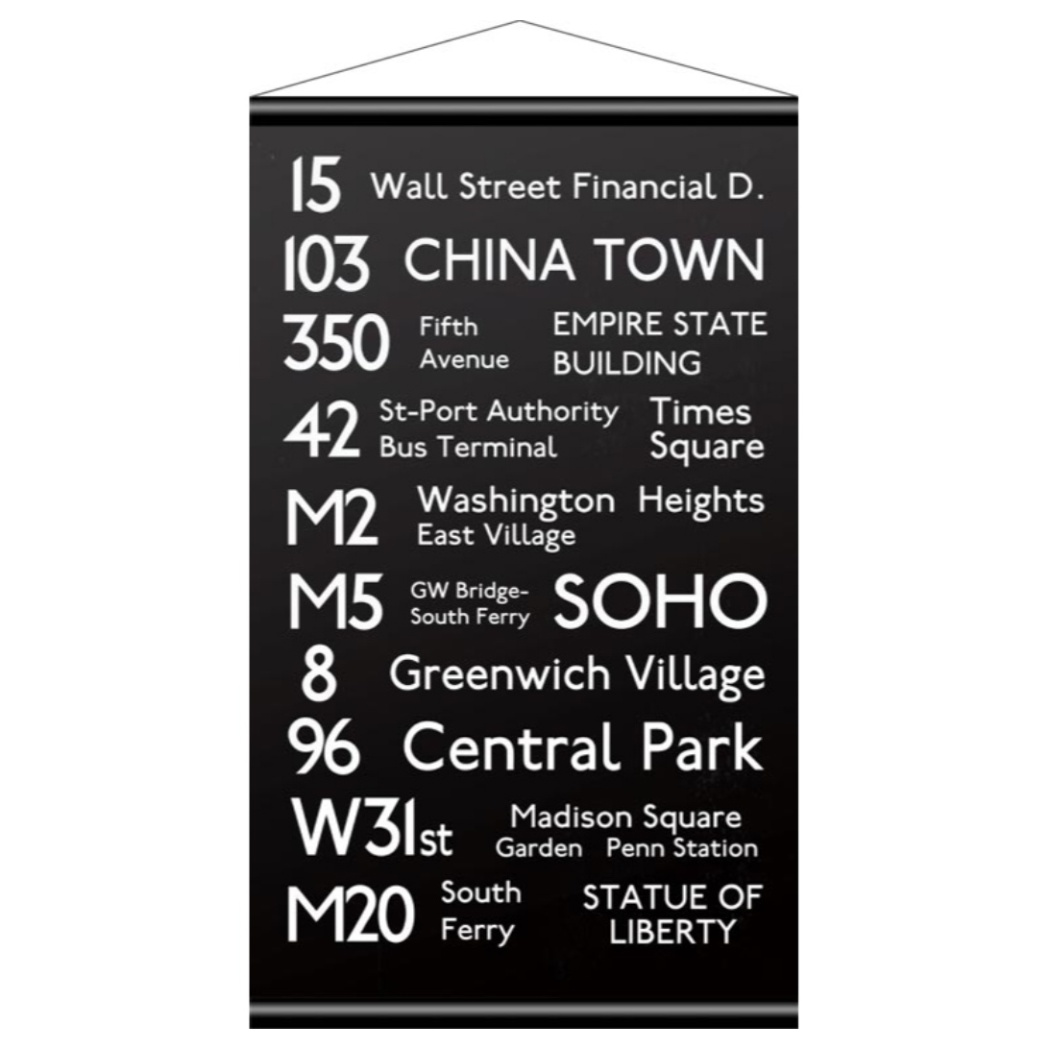 バスロールサイン タペストリー Tapestry Bus Roll Design NEW YORK ニューヨーク 美工社 IBR-51709 90×152cm インダストリアル 男前 ブルックリンインテリア通販 【取寄品】 【送料無料】シネマコレクション【全品ポイント10倍】【ママ割 エントリー5倍】 11/26まで