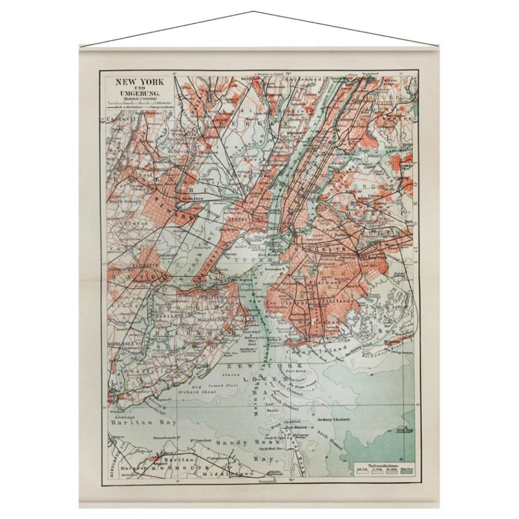 TAPESTRY タペストリー NEW YORK MAP INM-52898 美工社 108×140cm 地図 ヴィンテージインテリア通販 【取寄品】 【送料無料】シネマコレクション【全品ポイント10倍】【ママ割 エントリー5倍】 11/26まで