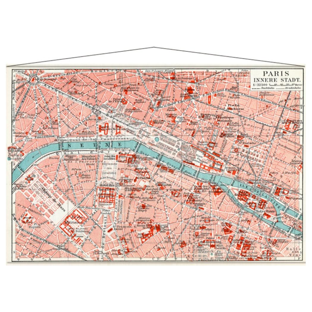 TAPESTRY タペストリー PARIS MAP IPM-52895 美工社 地図 ヴィンテージインテリア通販 取寄品 シネマコレクション