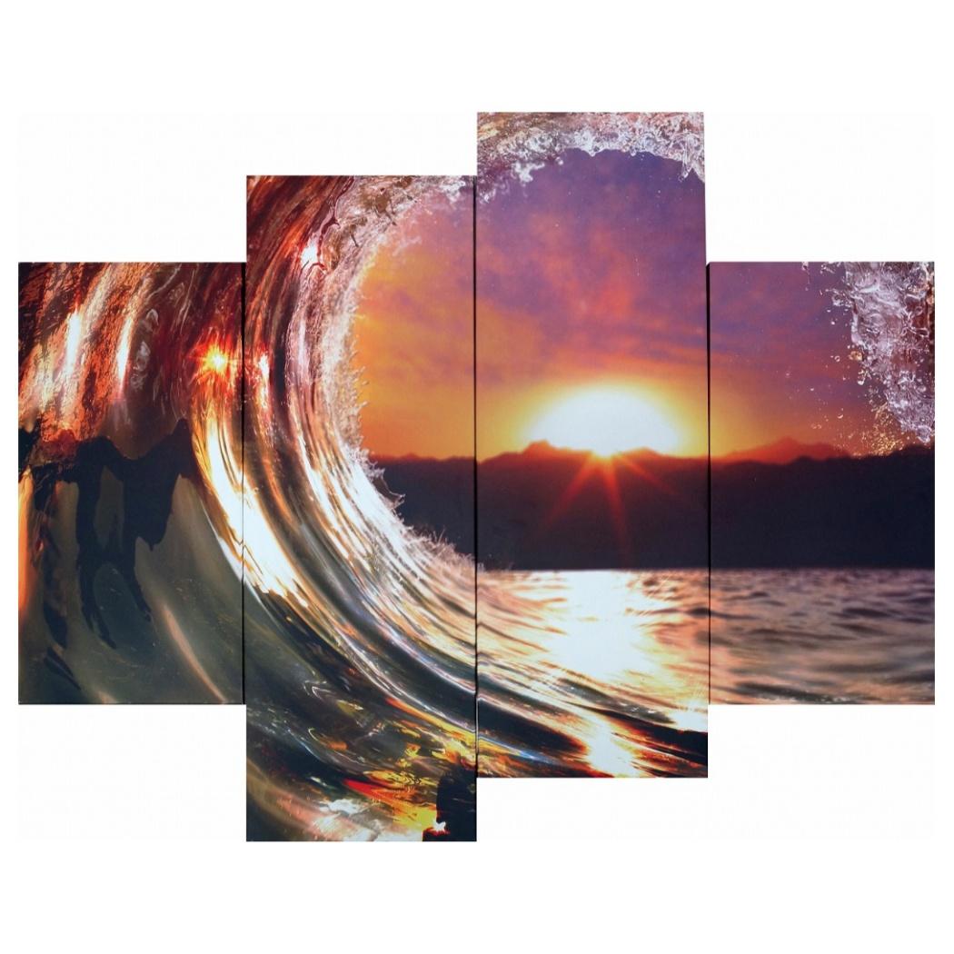 キャンバスアート 写真 アート Bello Canvas Art Beautiful ocean wave (4枚セット) 美工社 IPT-61746 フレームレスインテリア通販 取寄品 シネマコレクション