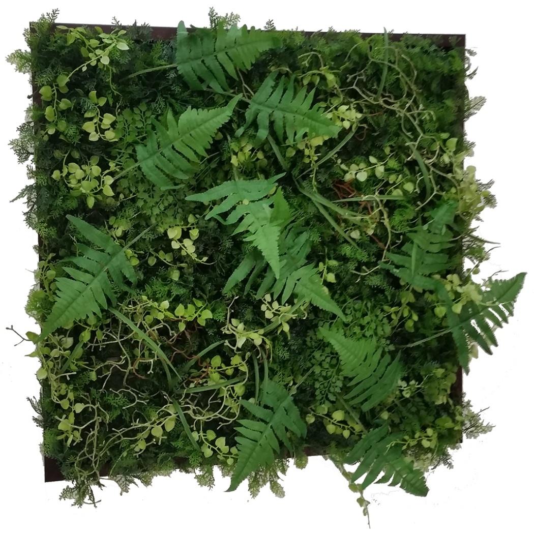 Wall Plants frame ウォールグリーン グリーン&ワイルド ブラウンフレーム 美工社 IWP-60676 造花インテリア通販 取寄品 シネマコレクション
