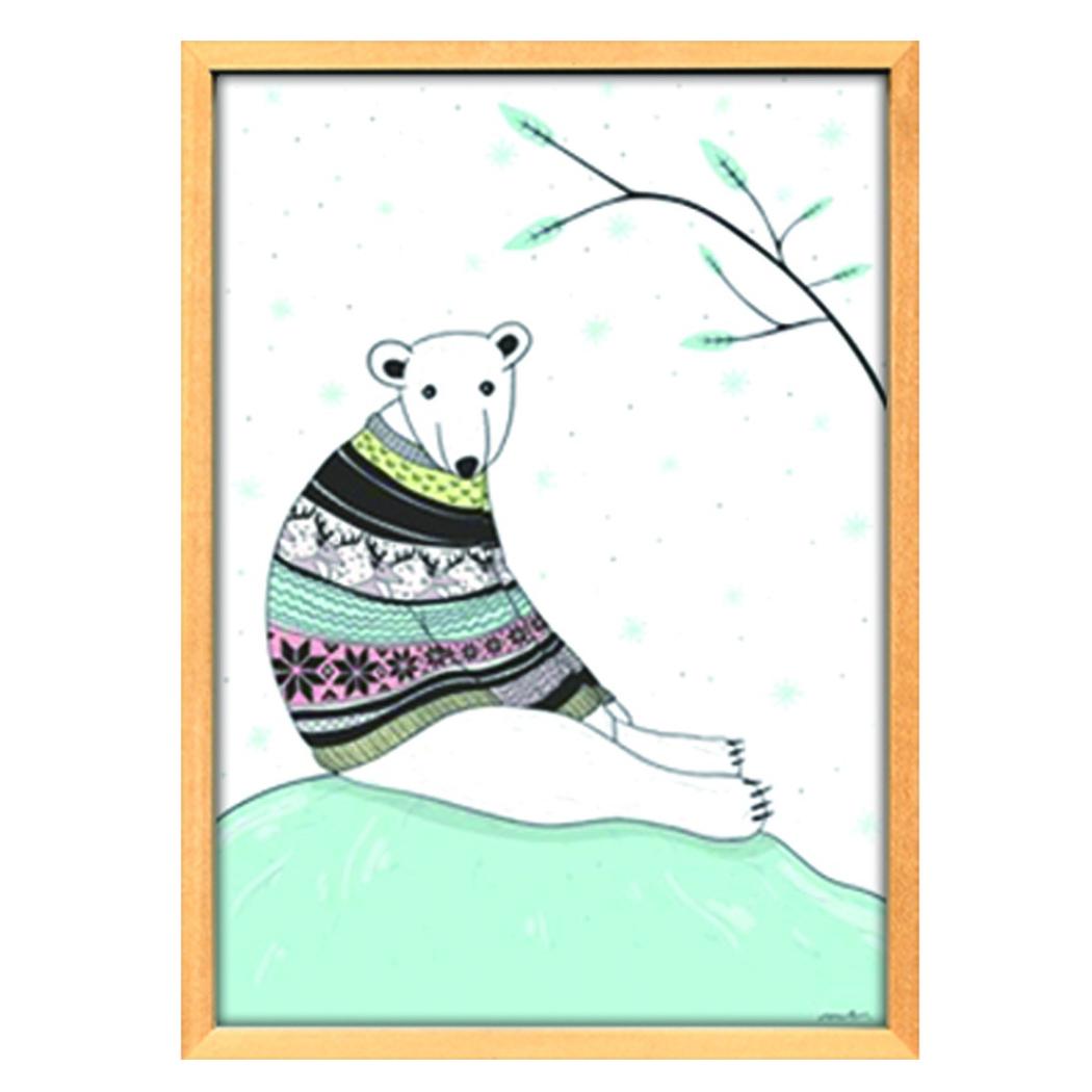 スカンジナビアンアート 額装品 Scandinavian Art シロクマ ブルー 美工社 ZLS-52678 北欧 額付きインテリア通販 取寄品 シネマコレクション
