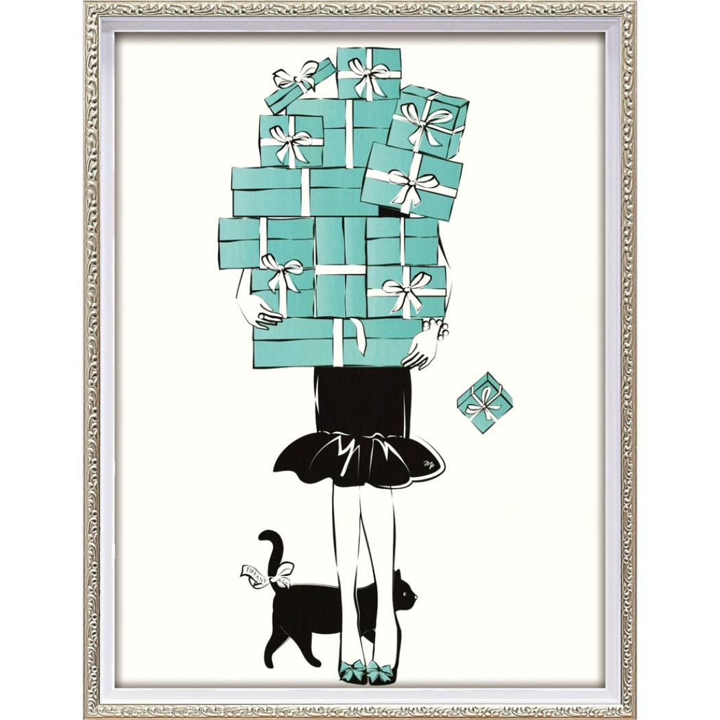 マルティナ パブロバ アートフレーム オマージュ キャンバスアート ショッピング ガール1 (Mサイズ) BC-12048 43.5x56.5cm 額付きポスター 大人可愛い おしゃれインテリア通販 取寄品 シネマコレクション