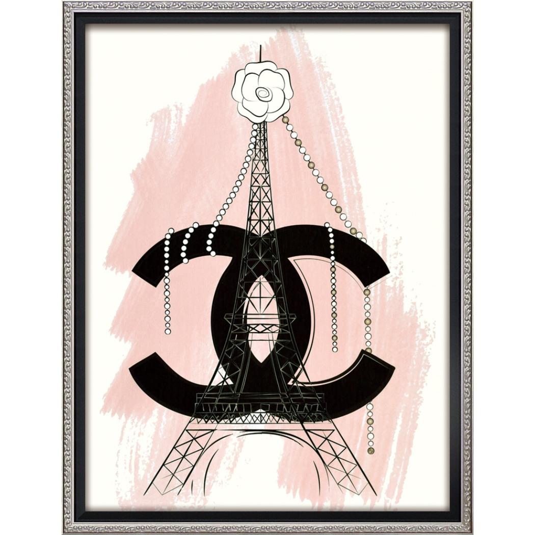 マルティナ パブロバ アートフレーム オマージュ キャンバスアート パリ (Mサイズ) BC-12049 43.5x56.5cm 額付きポスター 大人可愛い おしゃれインテリア通販 取寄品 シネマコレクション