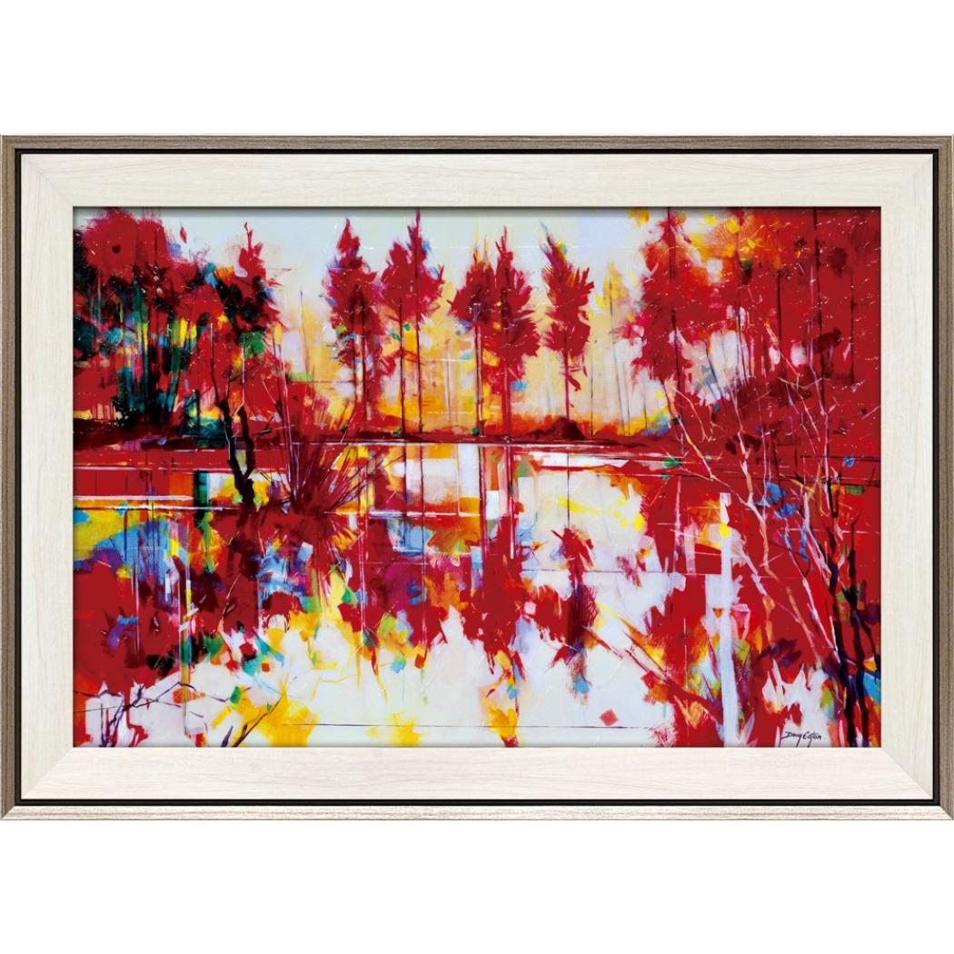 ダグ イートン 風景画 メドウクリフ ミアンダリング DE-17013 78.5x56.5cm ギフト 絵画 紅葉 額付きポスターインテリア通販 取寄品 シネマコレクション