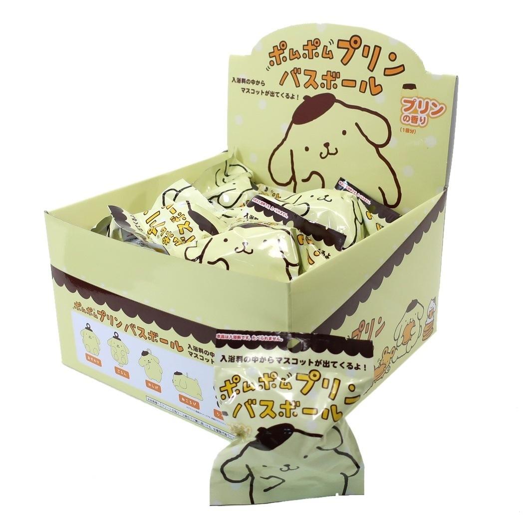ポムポムプリン バスボール 24個入BOX マスコットが飛び出る 入浴剤 サンリオ プリンの香り サンタン 景品 まとめ買い グッズ 通販 シネマコレクション