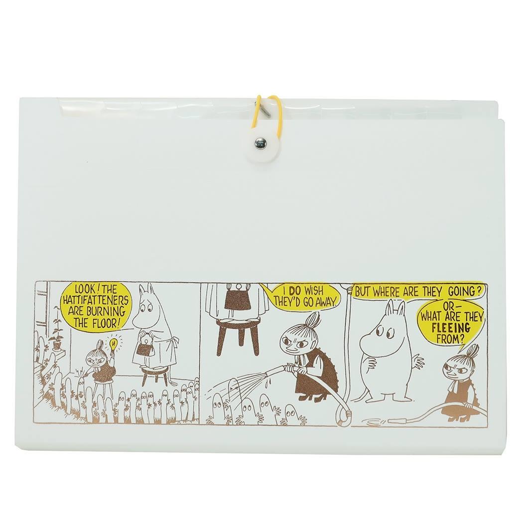 ムーミン A4 ドキュメントファイル 書類整理ケース イエロー 北欧 新品未使用正規品 キャラクターグッズ通販 APJ シネマコレクション キャラクターグッズ 12ポケット プレゼント 再再販