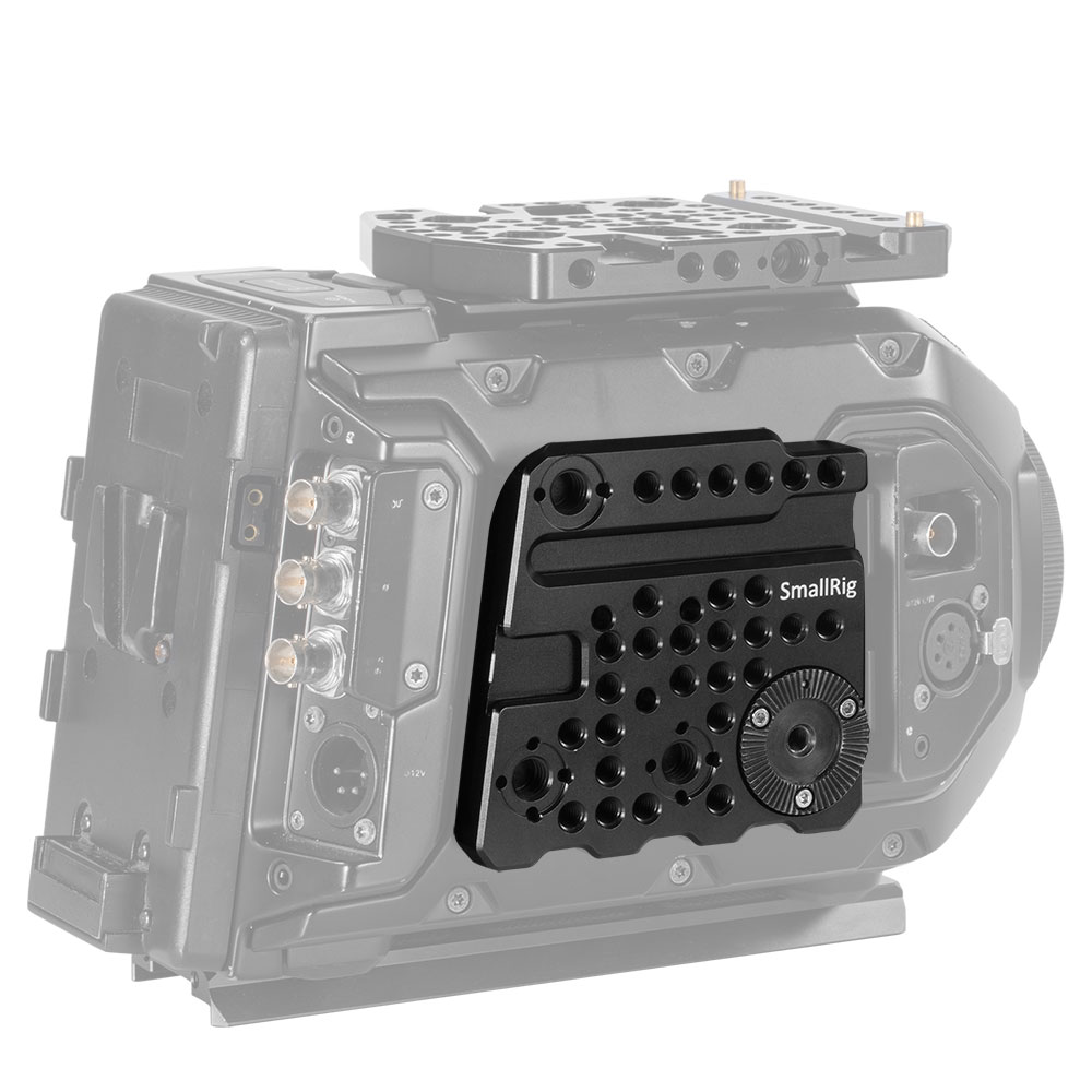 Smallrigにぴったりあなたのカメラを装備させる 月間優良ショップ受賞 SmallRig公式 送料無料多用途サイドプレート 海外直送 natoレールシュー付き軽量拡張可能DSLR装備DSLRRigsDSLRリグ-1854 [並行輸入品] BlackmagicURSAmini専用 割り引き
