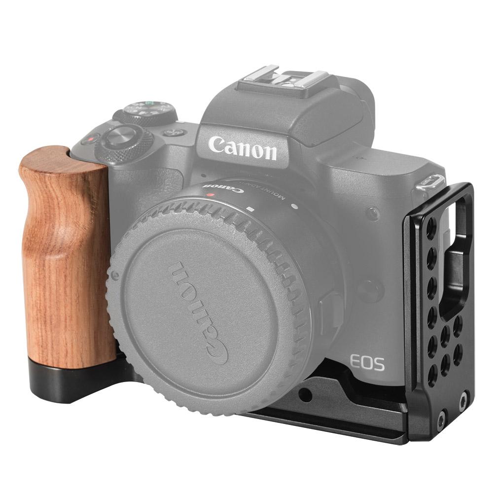 注目ブランド 撮影用品 返品交換不可 Canon EOS M50専用Lブラケット L-bracket キヤノ ウッドグリップ 月間優良ショップ受賞 CanonEOSM50専用LブラケットL-bracketキヤノウッドグリップArcaSwiss規格のベースプレートマイナスドライバー付き撮影便利軽量取付便利耐久性耐食性堅牢性拡張DSLR装備カメラケージDIYvloggerLCC2387 Swiss規格のベースプレート Arca SmallRig公式 海外直送 マイナスドライバー付き