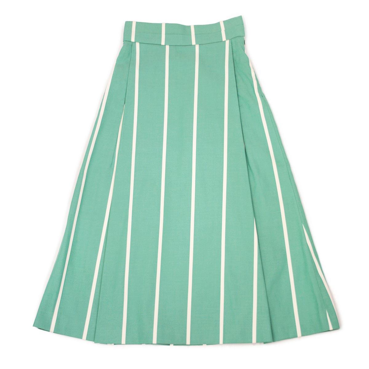 Borelio【ボレリオ】ストライプスカート ZOE 003 コットン グリーン ホワイト