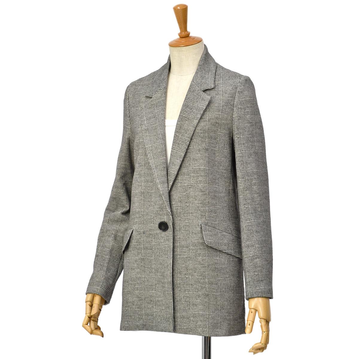 CIRCOLO 1901【チルコロ】一つ釦チェックジャージジャケット 9254A140505 MORO コットン チェック ブラウン