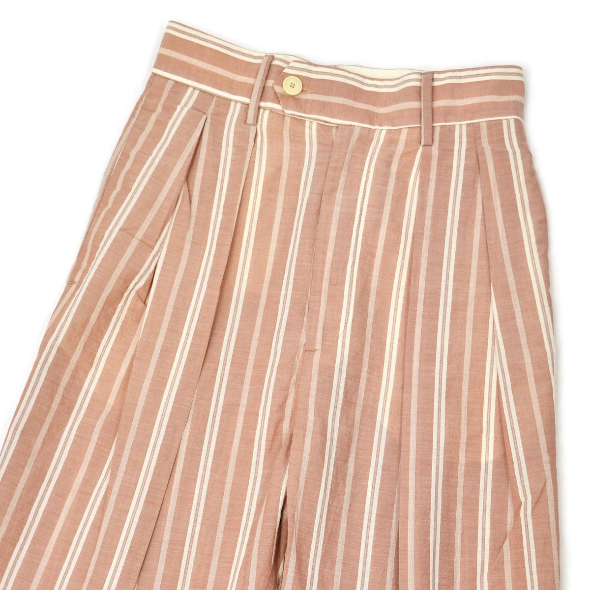 BARENA VENEZIA【バレナ ヴェネチア】ツータックストライプパンツ PAD2715 2559 Pantalone Bonnie Manita Antico コットン ピンク