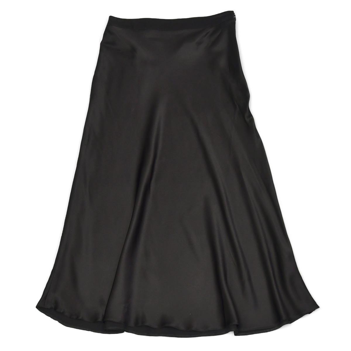 Borelio【ボレリオ】フレアスカート Amy 93000 99 シルク ポリウレタン ブラック
