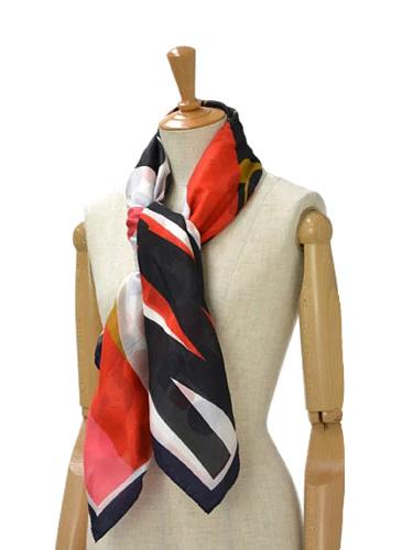 Pierre Louis Mascia【ピエールルイマシア】ダブルフェイスストール 28580 silk cotton RED/NAVY(レッド/ネイビー)