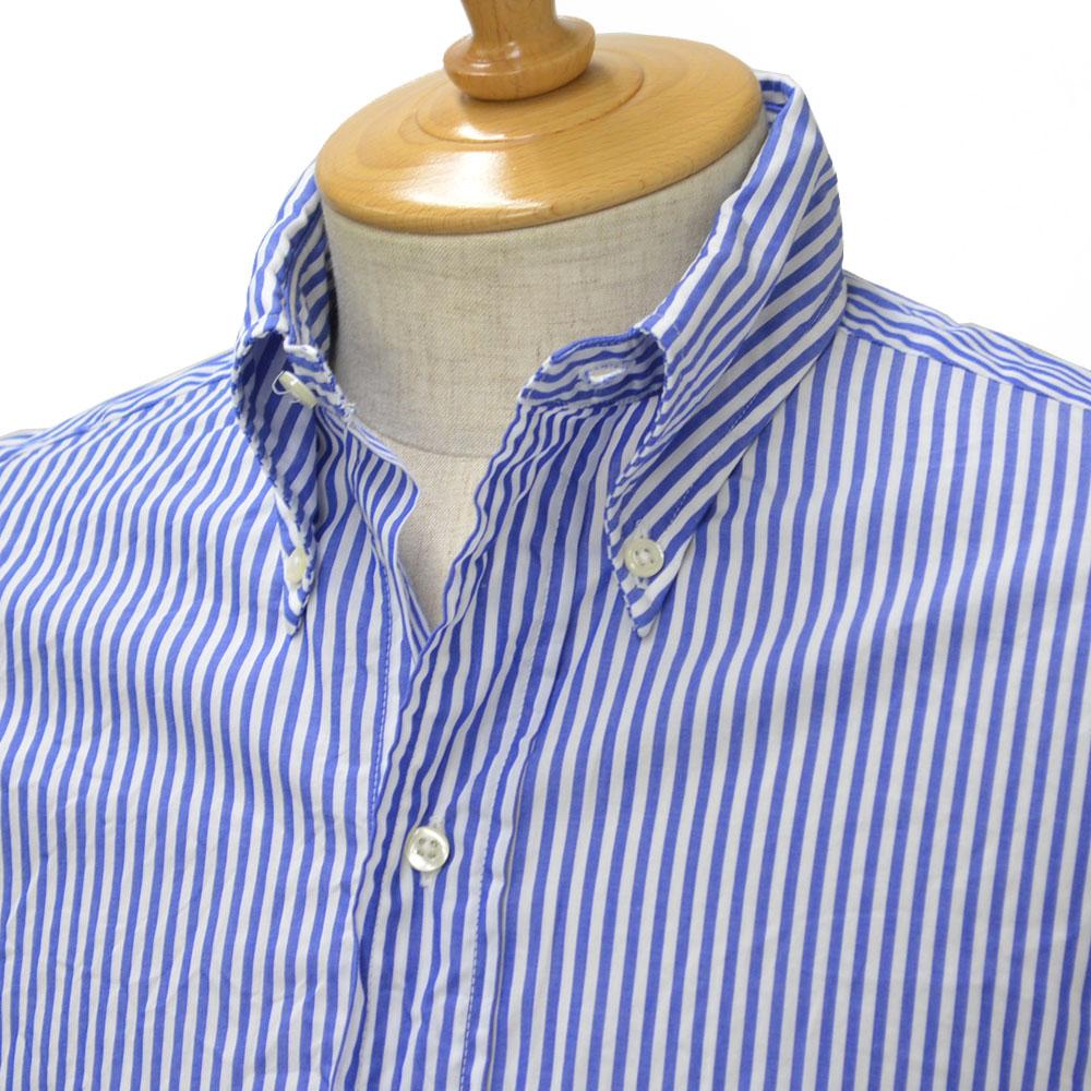 INDIVIDUALIZED SHIRTS×RESOLUTE(林 芳亨氏) Special Model(Front 6 Button)【インディビジュアライズドシャツ×リゾルト】ボタンダウンシャツcotton FRENCH STRIPE BLUE(スタンダードフィット/フレンチストライプブルー)