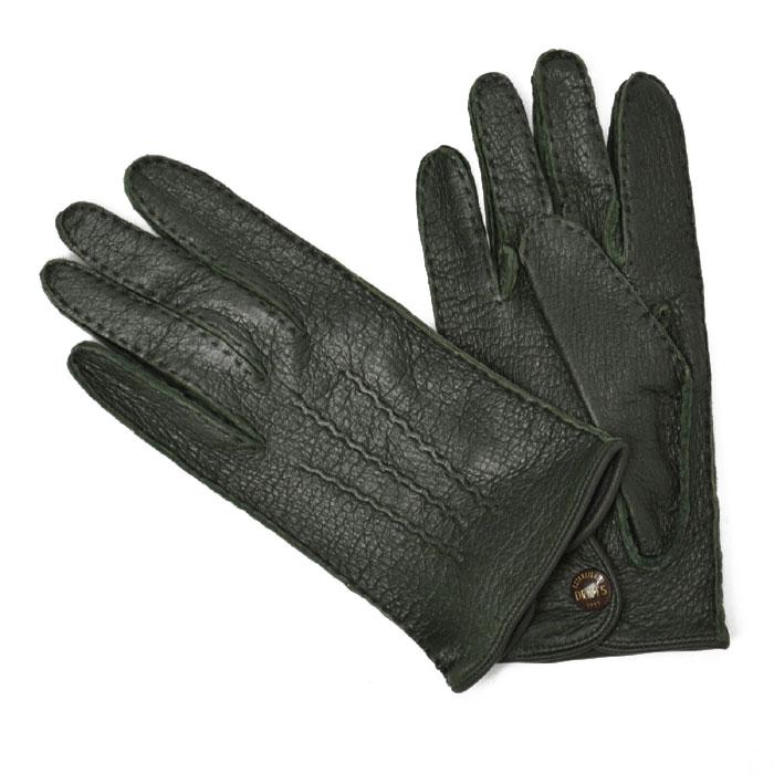 DENTS【デンツ】手袋/グローブ 15-1043 Hunter Peccary&No lining(グリーンペッカリー)