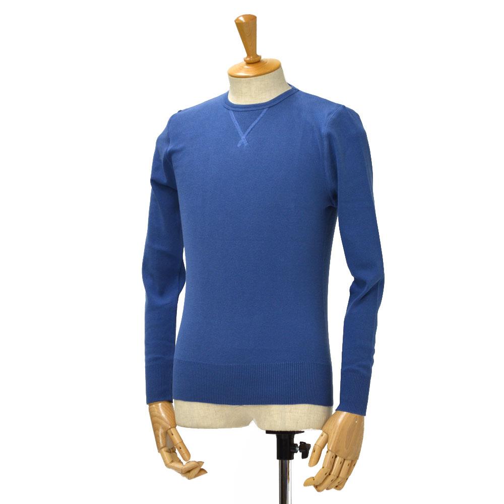 Letroyes运动衫圆领CLAUDE BLUET棉布蓝色